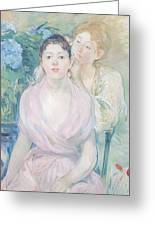 The Hortensia Greeting Card by Berthe Morisot