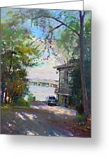 The House By The River Greeting Card by Ylli Haruni