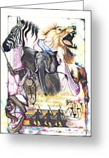 The Hunt Greeting Card by Anthony Burks Sr
