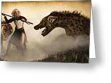 The Hyaenodons - Allie's Battle Greeting Card by Mandem