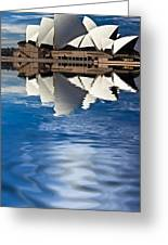 The Iconic Sydney Opera House Greeting Card by Avalon Fine Art Photography