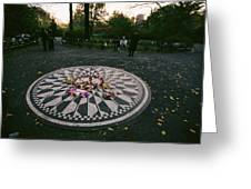 The Imagine Mosaic, A Memorial To John Greeting Card by Melissa Farlow
