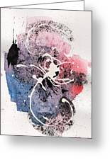 The Inexplicable Ignition Of Time Expanding Into Free Space Phase Two Number 12 Greeting Card by Mark M  Mellon