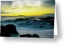 The Infinite Spirit  Tranquil Island Of Twilight Maui Hawaii  Greeting Card by Sharon Mau