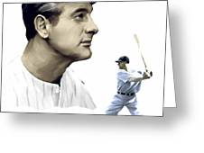 The Iron Horse  Lou Gehrig Greeting Card by Iconic Images Art Gallery David Pucciarelli