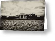 The Jefferson Memorial Greeting Card by Bill Cannon