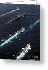 The John C. Stennis Carrier Strike Greeting Card by Stocktrek Images