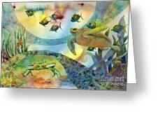 The Journey Begins Greeting Card by Amy Kirkpatrick