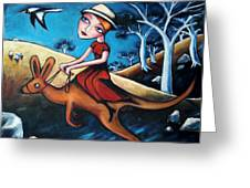 The Journey Woman Greeting Card by Leanne Wilkes
