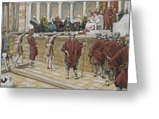 The Judgement On The Gabbatha Greeting Card by Tissot