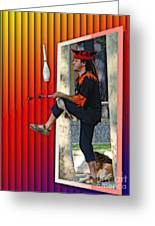 The Juggler Greeting Card by Sue Melvin