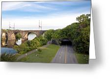 The Kelly Drive Rock Tunnel Greeting Card by Bill Cannon