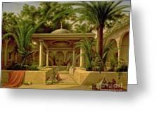 The Khabanija Fountain In Cairo Greeting Card by Grigory Tchernezov