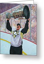 The Kid And The Cup Greeting Card by Allan OMarra