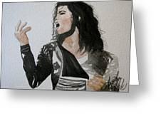 The King Of Pop Greeting Card by Amanda Burek