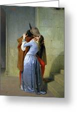 The Kiss Greeting Card by Francesco Hayez
