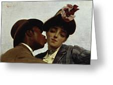 The Kiss Greeting Card by Theodore Jacques Ralli