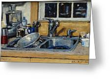 The Kitchen Sink Greeting Card by Thor Wickstrom