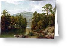 The Lake George Greeting Card by David Johnson