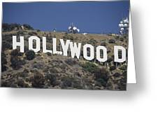 The Landmark Hollywood Sign Greeting Card by Richard Nowitz