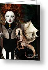 The Last Dragon Greeting Card by Shanina Conway