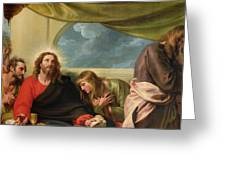 The Last Supper Greeting Card by Benjamin West