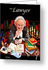 The Lawyer Greeting Card by Johnny Trippick