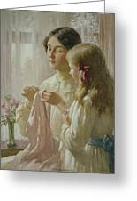 The Lesson Greeting Card by William Kay Blacklock