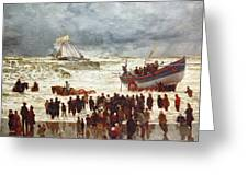 The Lifeboat Greeting Card by William Lionel Wyllie