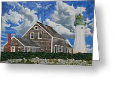 The Light Keeper's House Greeting Card by Dominic White