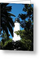 The Lighthouse Greeting Card by Audrey Venute