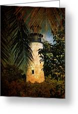 The Lighthouse In Key West Greeting Card by Susanne Van Hulst