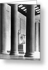 The Lincoln Memorial Greeting Card by War Is Hell Store