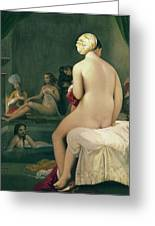 The Little Bather In The Harem Greeting Card by Jean Auguste Dominique Ingres