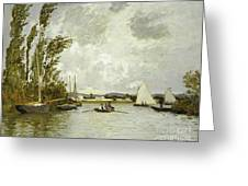 The Little Branch of the Seine at Argenteuil Greeting Card by Claude Monet