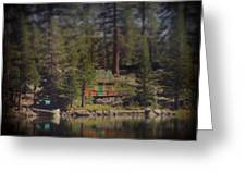 The Little Cabin Greeting Card by Laurie Search