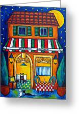 The Little Trattoria Greeting Card by Lisa  Lorenz
