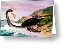 The Loch Ness Monster Greeting Card by Gino DAchille