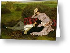 The Lovers Greeting Card by Pal Szinyei Merse