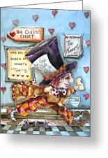 The Mad Hatter - In Court Greeting Card by Lucia Stewart