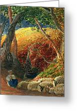 The Magic Apple Tree Greeting Card by Samuel Palmer