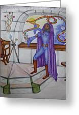 The Magician Greeting Card by Carol Frances Arthur