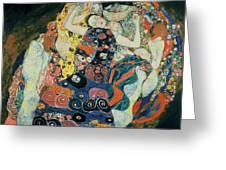 The Maiden Greeting Card by Gustav Klimt