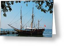 The Maryland Dove Ship Greeting Card by Thomas R Fletcher