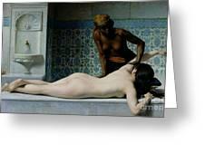 The Massage Greeting Card by Edouard Debat-Ponsan