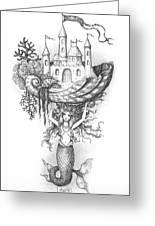 The Mermaid Fantasy Greeting Card by Adam Zebediah Joseph