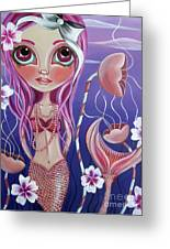 The Mermaid's Garden Greeting Card by Jaz Higgins