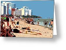 The Miami Beach Greeting Card by David Lee Thompson