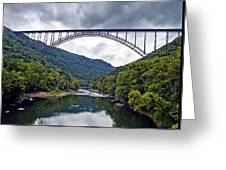 The New River Gorge Bridge In West Virginia Greeting Card by Brendan Reals