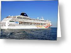 The Norwegian Sun Is Leaving Greeting Card by Susanne Van Hulst